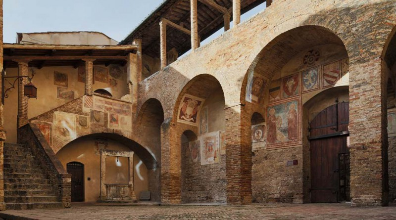 The civic museum in the town hall of San Gimignano