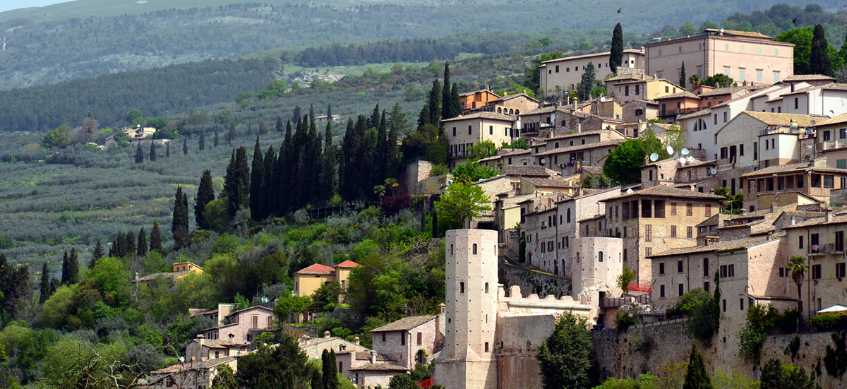 Spello, beautiful village loved by Caesar.